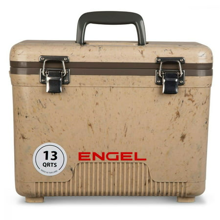 Engel 13 Quart Lightweight Fishing Dry Box Cooler with Shoulder Strap,