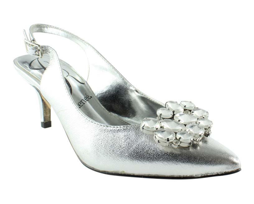 J. Renee Womens Silver Open Toe Heels Size 5 New by J. Renee