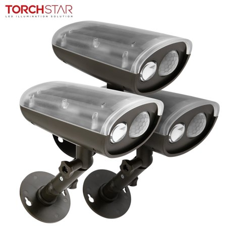 Torchstar 3 Pack Led Solar Ed Outdoor Security Light With Motion Sensor Waterproof Wireless Wall Lights