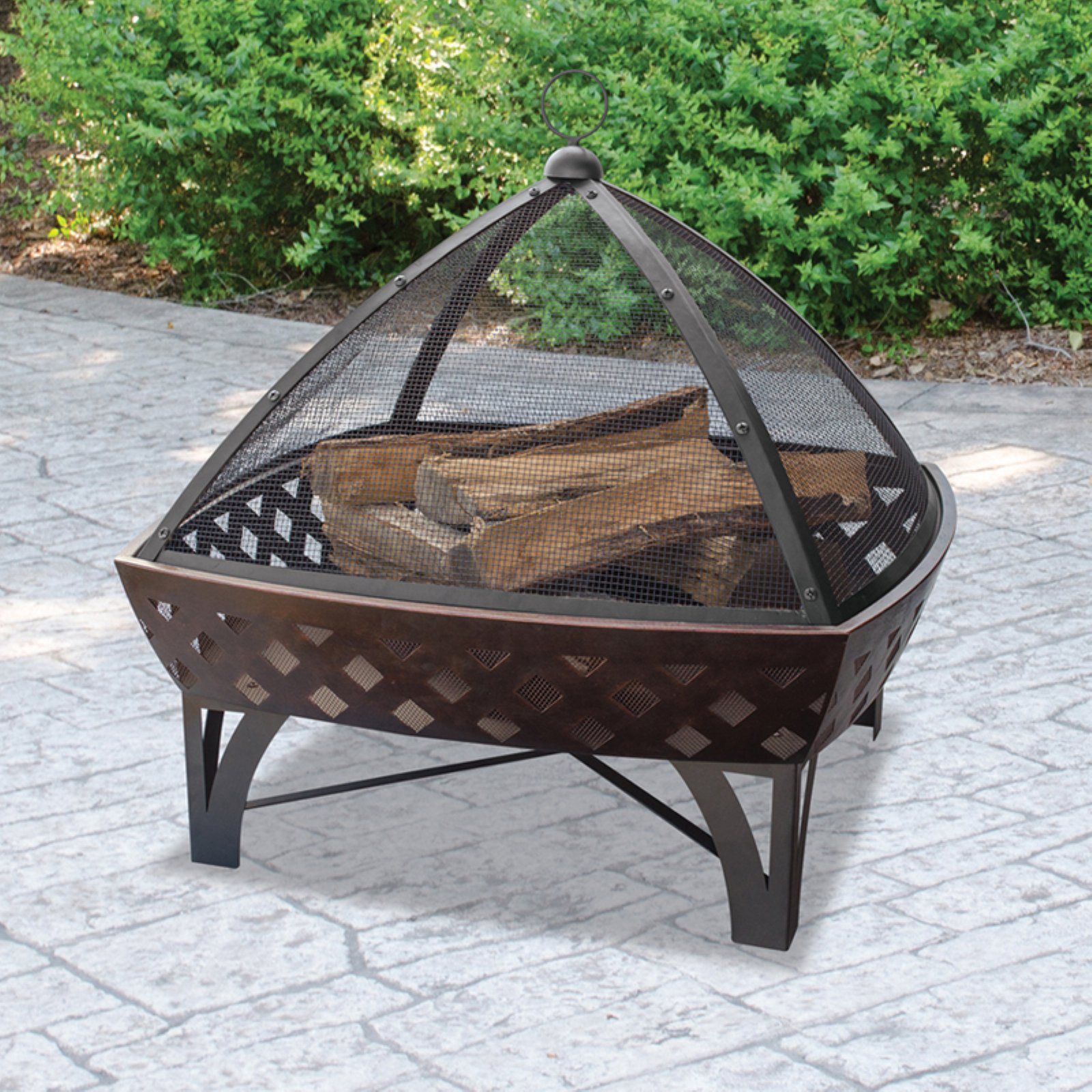 UniFlame Outdoor Firebowl with Lattice Design