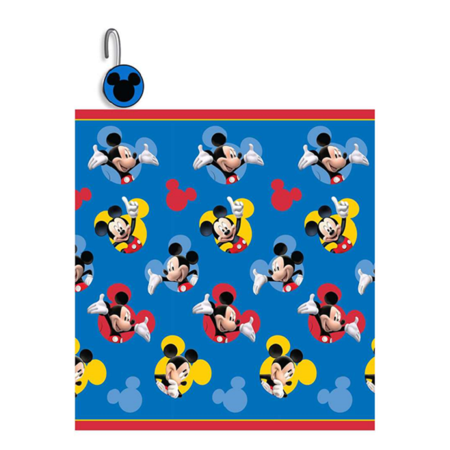 Disney Mickey Mouse 13 Piece Printed Shower Curtain Set With Matching Hooks- 1 Shower Curtain 72