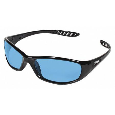 Jackson Safety* V40 Hellraiser Safety Glasses, Black Frame, Light Blue JAK20542