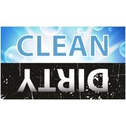 Dishwasher Magnet Clean Dirty Sign - 2 x 3.5 Inch Blue & Black Refrigerator Magnets - by Flexible Magnets