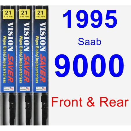 1995 Saab 9000 Wiper Blade Set/Kit (Front & Rear) (3 Blades) - Vision Saver