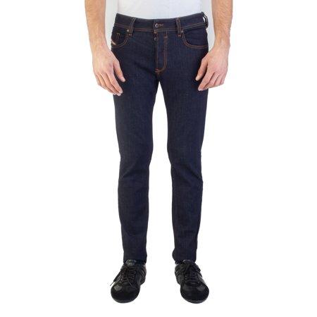 Diesel Men's Regular Slim-Tapered Fit Iakop RH248 Stretch Jean Pants Dark