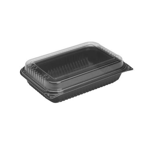 Solo Dinner Box, 1-comp, Black/clear, 64oz, 11 1/2w X 8.05d X 2.95h SCC919017...