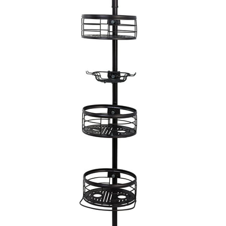 Better Homes & Gardens Tension Pole Shower Caddy, Oil-Rubbed