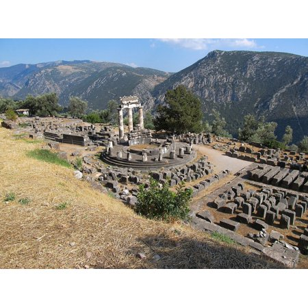 LAMINATED POSTER The Antique Temple Mountains Delphi The Ruins Of The Poster Print 24 x -
