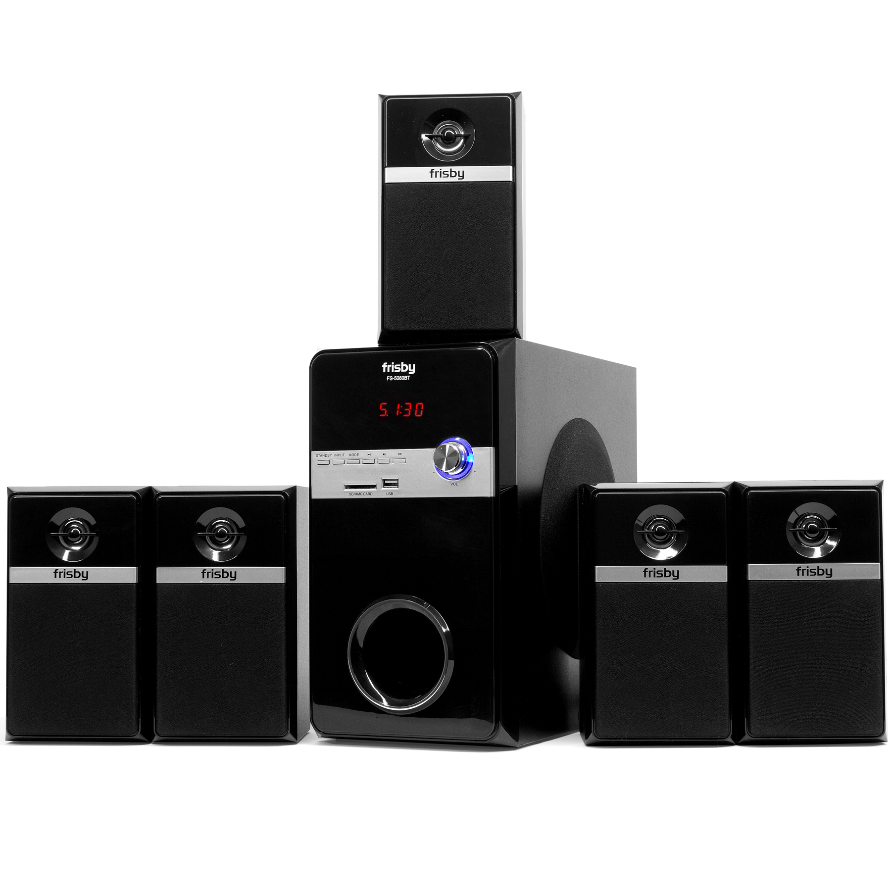 FRISBY FS-5080BT 5.1 Surround Sound Home Theater Speaker ...