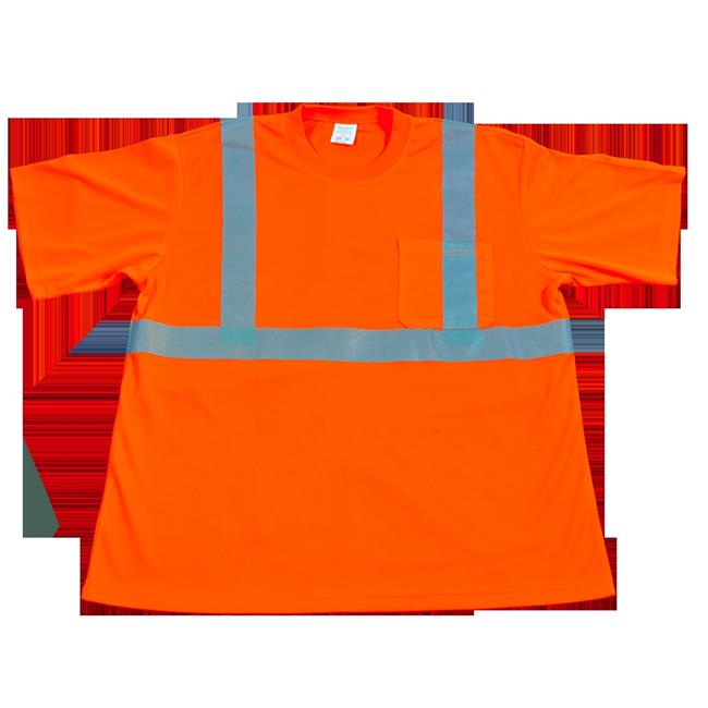 High Visibility T-Shirt with Pocket - Occunomix Class 2 Moisture Wicking Birdseye, 2X - image 1 de 1