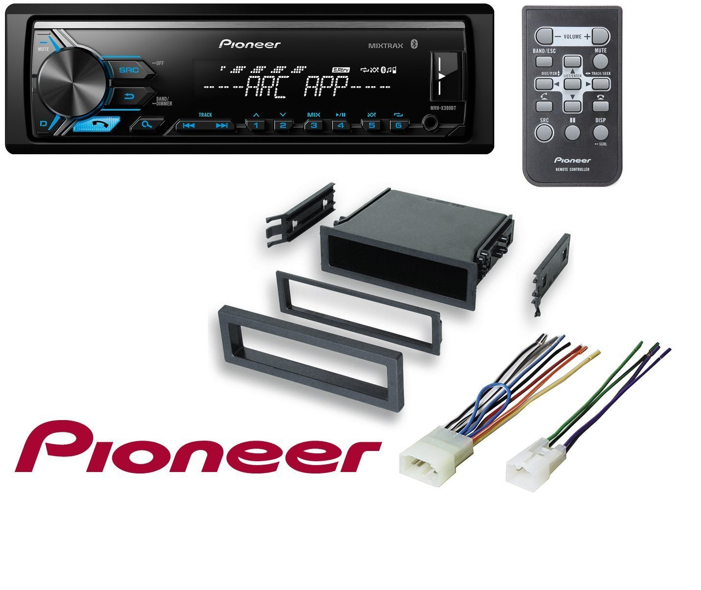 Lexus Toyota Select Models Car Stereo Radio Install Mounting Kit Single Din Dash Mount With Wiring Wire Harness W Pioneer Mvh X390bt Vehicle Digital Media Receiver Arc App
