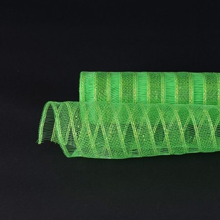 (Apple Green - Deco Mesh Eyelash Metallic Stripes)
