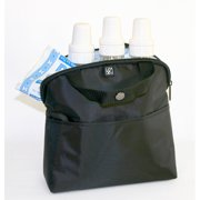 JL Childress 4-Bottle MaxiCOOL Baby Bottle Cooler Bag, Black by Bottle Coolers