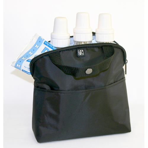 JL Childress 4-Bottle MaxiCOOL Baby Bottle Cooler Bag, Black