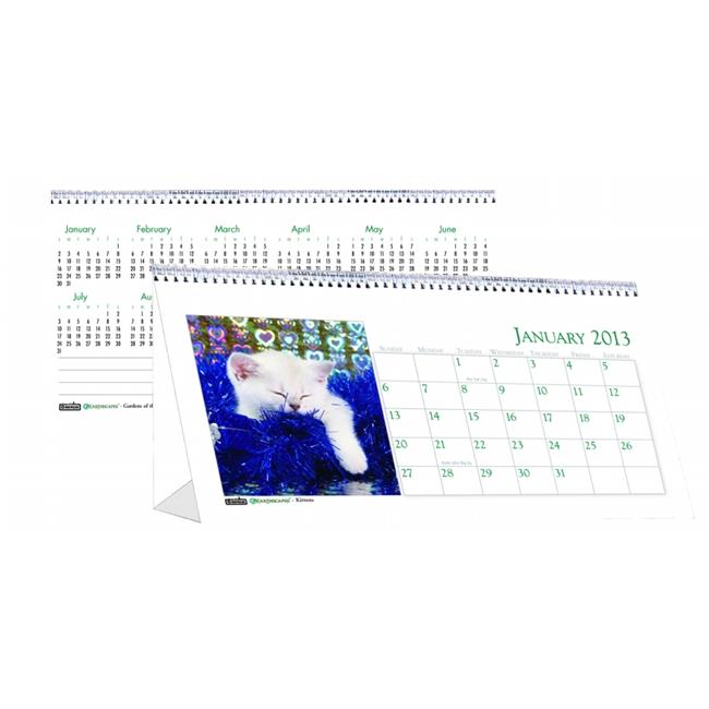 Tent Calendar,Desktop,Kittens,12 Mth,Jan-Dec,8-1/2x4-1/2