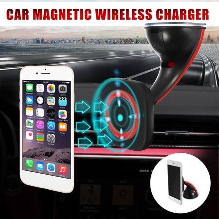 360° Qi Wireless Charger Charging Car Dashboard Magnetic Mount Holder Stand  For iPhone Samsung Smartphone Cellphone