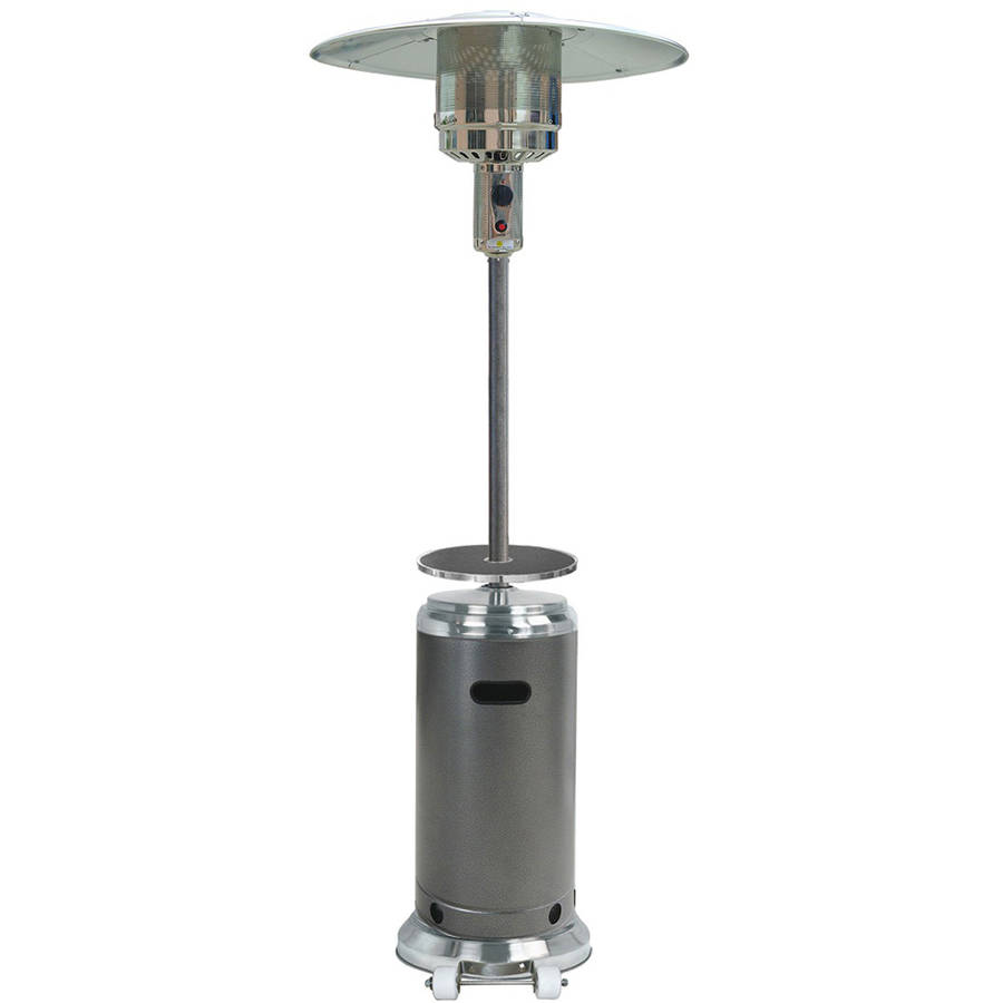 Hiland Tall Stainless Steel and Hammered Silver Patio Heater with Table by AZ Patio Heaters