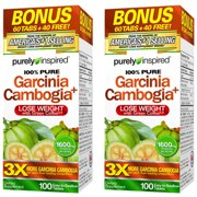 Purely Inspired Garcinia Cambogia Non Stimulant Diet Pills Bonus Pack, Veggie Tablets, 100 Ct