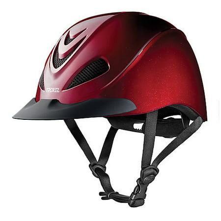Troxel Liberty Schooling Helmet Small Ruby Leather Helmet Bib