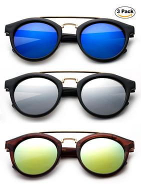 6daca040404 Product Image Newbee Fashion -Kids Girls Fashion Sunglasses Plastic Round  Aviator Popular Color with Flash Mirror Lens