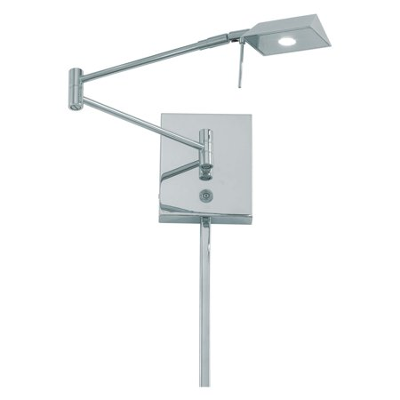 George Kovacs 1-Light LED Swing Arm Lamp - Chrome
