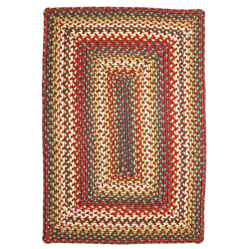 Homespice Decor Sunrose Red Indoor/Outdoor Rug