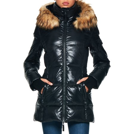 Marc New York Quilted Jacket - Faux Fur Quilted Puffer Jacket