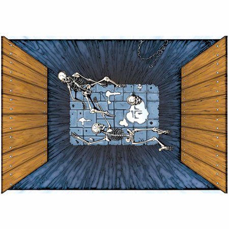 Paper Magic Fantasy Castle Dungeon 3' x 4' Floor Mat, Grey Brown
