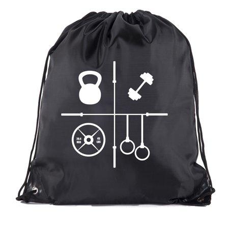 Power Lifting Backpacks, Extreme Fitness Drawstring Bags Weightlifting Gym Bags - Workouts