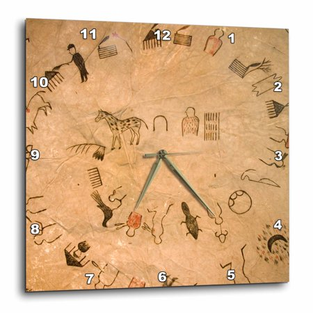 3dRose Buffalo robes - US42 AWY0000 - Angel Wynn, Wall Clock, 13 by