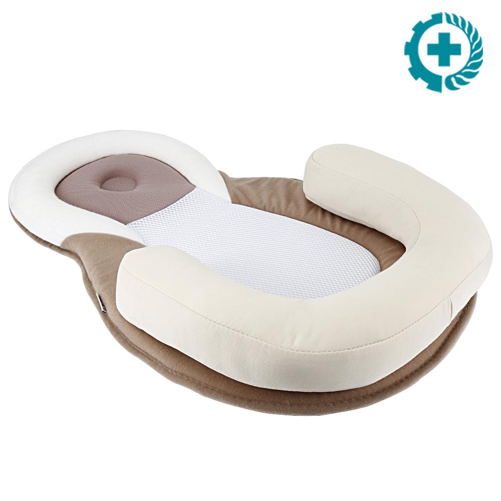 US Infant Baby Newborn Pillow Cushion Prevent Flat Head Sleep Nest Pad Anti Roll
