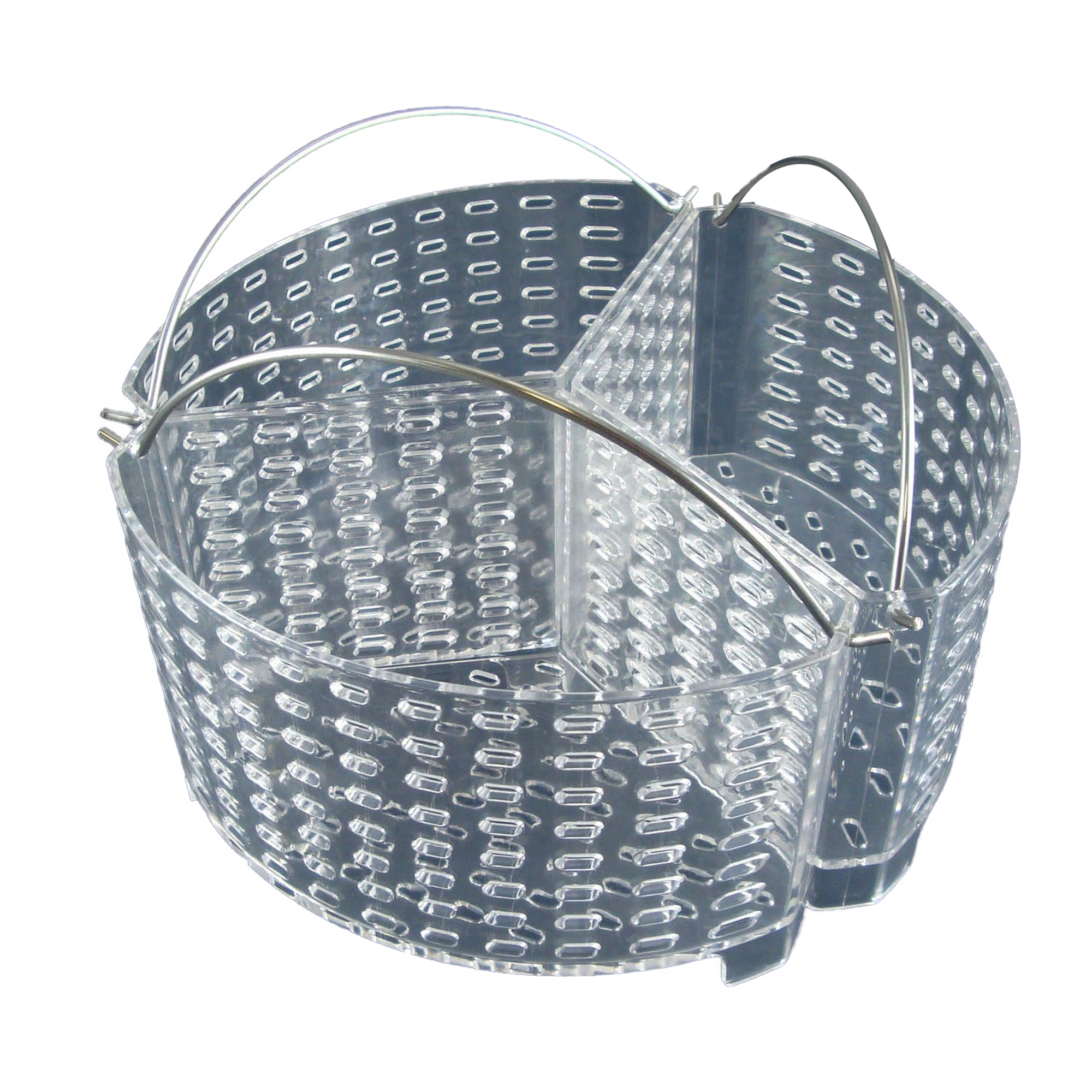 StyleAsia 3 Section Vegetable Steamer Basket - Premium Quality Steamer Basket with Easy Grip Handles for Healthy Cooking, Veggies, Seafood, Fruits - Easy to Clean and Use