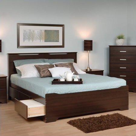 Kingfisher Lanes Full Platform Storage Bed in Espresso ()