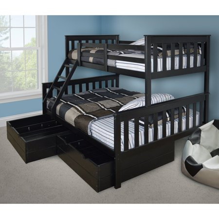 Versaloft Mission Twin Over Full Bunk Bed Walmart Com