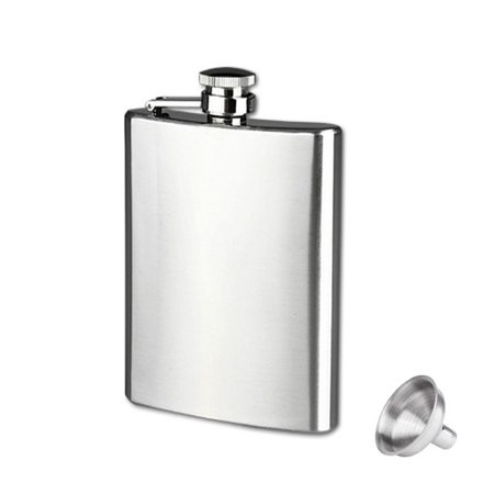 8oz Stainless Steel Pocket Hip Flask Alcohol Whiskey Liquor Screw Cap