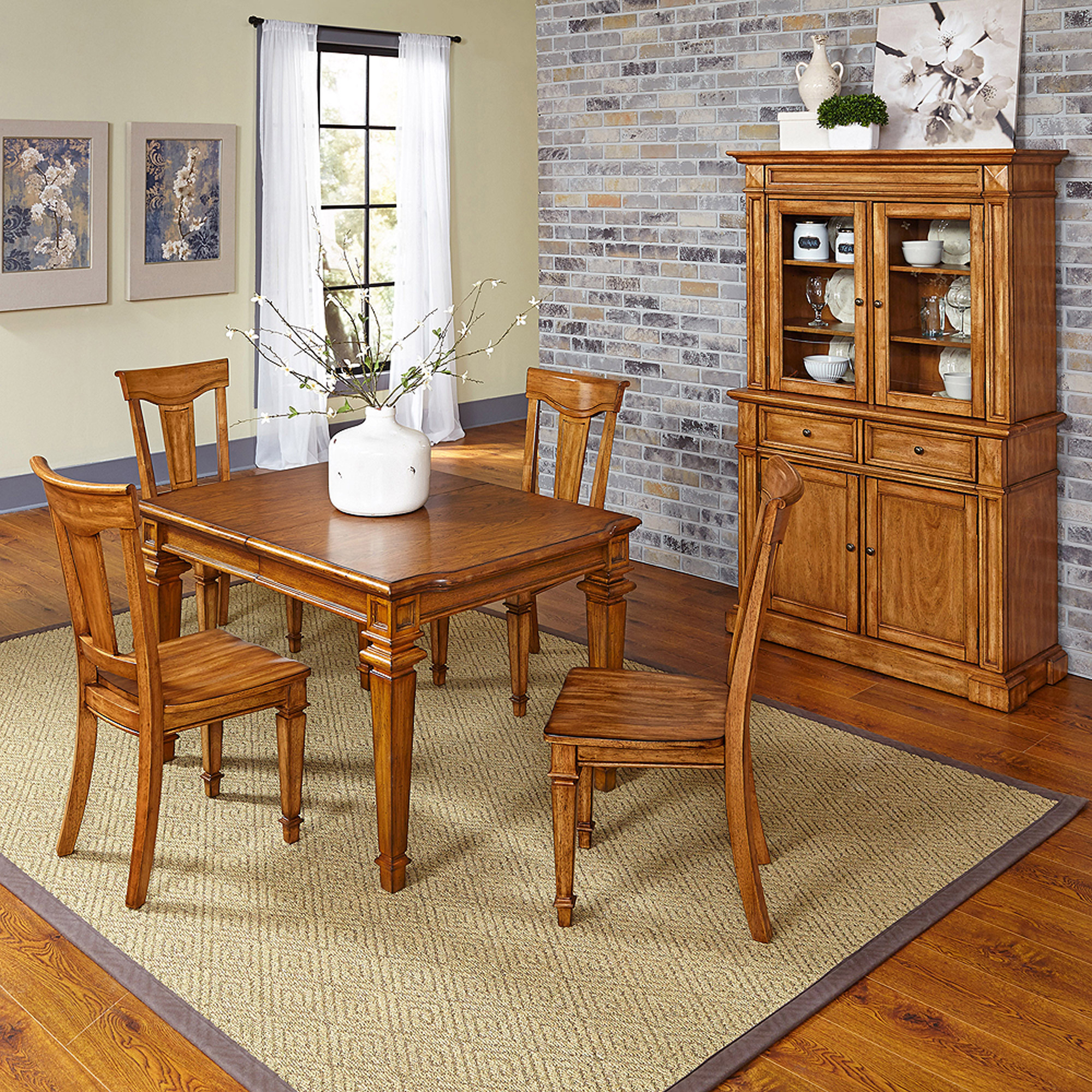 Home Styles Americana 5-Piece Dining Set with Buffet and Hutch