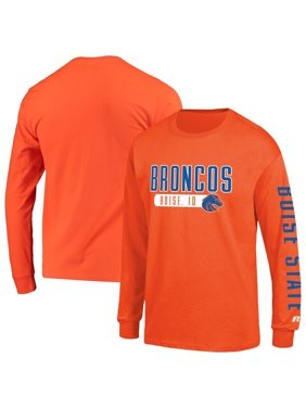 Men's Russell Athletic Orange Boise State Broncos Hit Long Sleeve T-Shirt