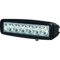 HELLA 357203031 Value Fit Mini Light Bar (6 LED, Flood beam, Flush mount)