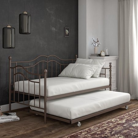 - DHP Tokyo Metal Twin Daybed and Twin Trundle Set, Bronze