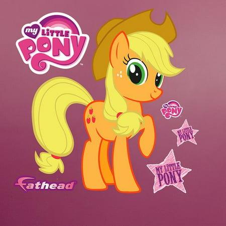 fathead hasbro my little pony - applejack peel and stick wall decal