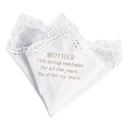 Beverly Clark 16H Mothers Tears Handkerchief in White