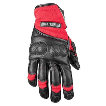 Speed & Strength Tough as Nails 2.0 Textile Gloves Black/Red (Red, XX-Large)