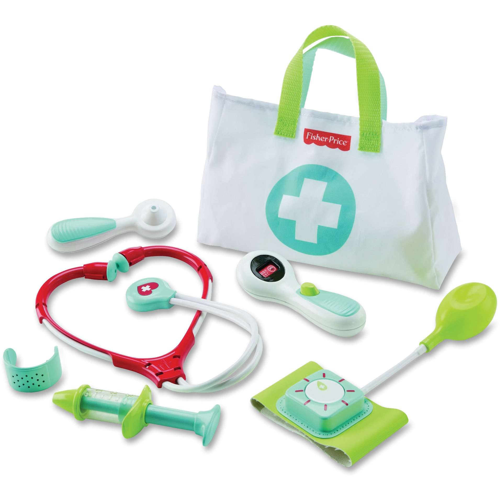 Fisher Price Medical Kit with Doctor Health Bag Playset by Fisher-Price