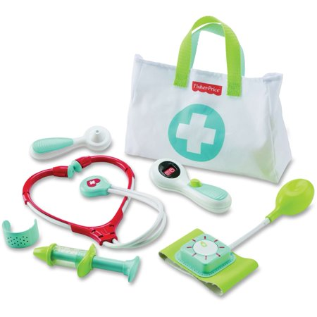 Fisher-Price Medical Kit with Doctor Health Bag Playset - Toy Doctor Kit