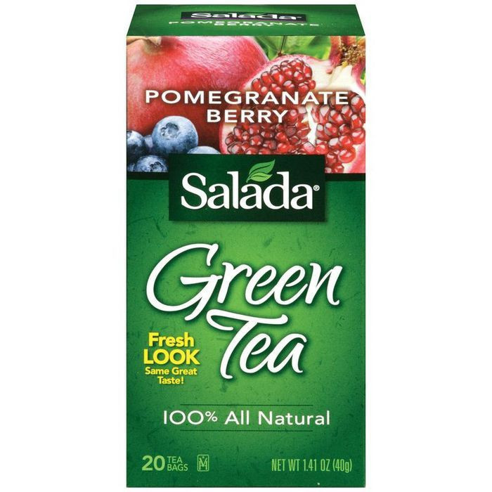 Salada Pomegranate Berry Green Tea Bags 20 ct (Pack of 6)