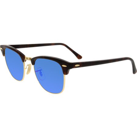Ray-Ban 0RB3016 Clubmaster Unisex Sunglasses - Size - 51 (Grey Mirror Blue)