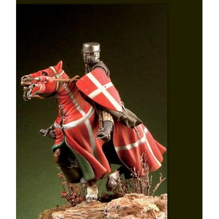 Order Metal - Pegaso Models 54mm St John Order Knight XIII c. White Metal Figure Kit #54-509