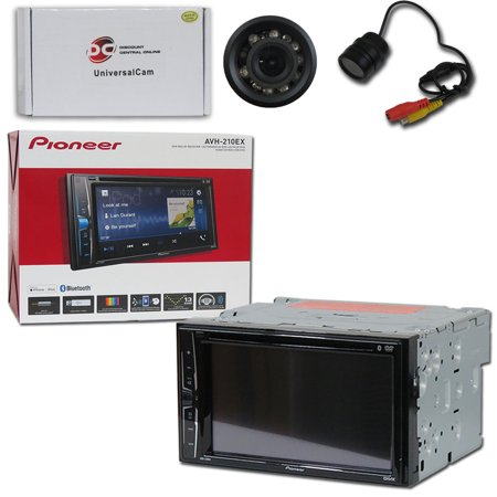 Pioneer AVH-210EX Car Audio Double Din 2DIN 6.2 Touchscreen DVD MP3 CD Stereo Built-in Bluetooth with DiscountCentralOnline RC09 Waterproof Nightvision back-up camera (Car Audio Dvd Pioneer)