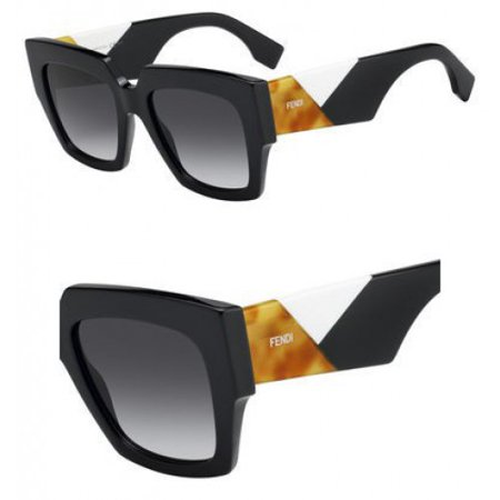 Fendi FF0263s 0807 Black Square Sunglasses ()