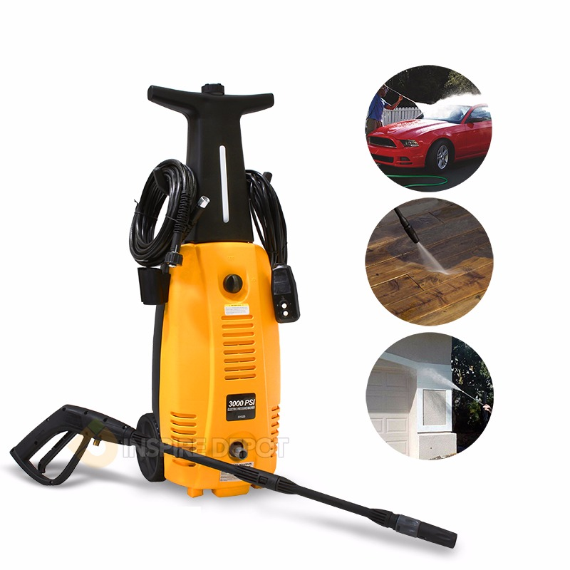 2000W High Pressure Washer Electric Jet Sprayer Burst Power, 3000PSI